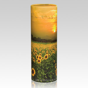 Sun flower scattering biodegradable urn