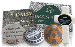 A Collage of Our Pet Grave Markers