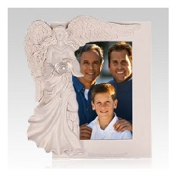 An angel can add an elegant and heartwarming touch to any memorial