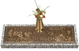 A bronze headstone can create an unforgettable memorial tribute