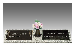 Bronze and granite combined can create an elegant and long lasting memorial marker tribute