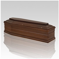 A cremation casket must be made of combustible materials