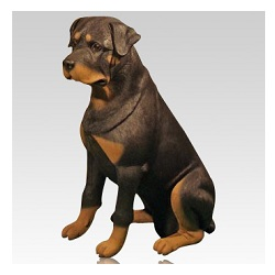 Lifelike dog urns can help create a reminder that the dog will always be in our hearts and memories