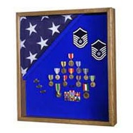 Some flag cases are specially made to display a flag and other memorabilia
