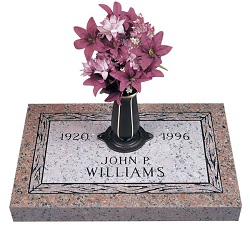 Grave markers are made to last a lifetime