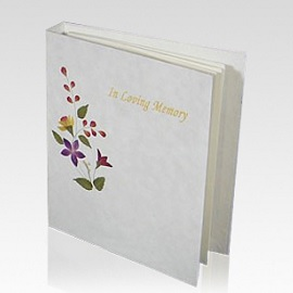Memorial books can capture and hold the special memories of a lifetime