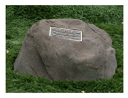 A natural memorial tribute can help honor a person, place or event in a beautiful way