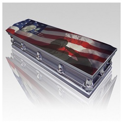 A metal casket can even be personalized with photos or personal messages