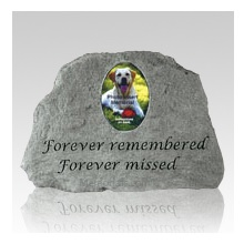 A small pet memorial stone will help create a dignified final resting place