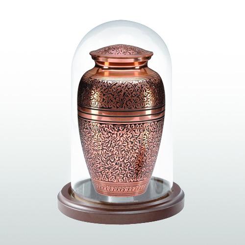 Walnut Short Glass Keepsake Dome
