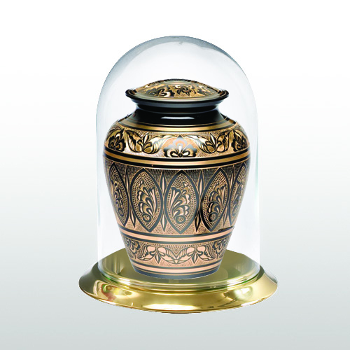 Brass Glass Keepsake Dome