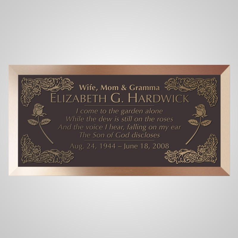 Roses Bronze Plaque