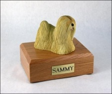 Lhasa Apso Dog Small Cremation Urn