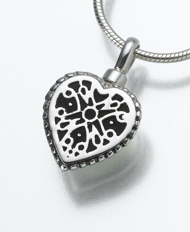 Filigree Heart Pet Cremation Jewelry I
