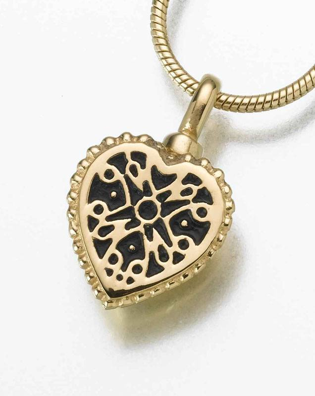 Filigree Heart Pet Cremation Jewelry IV