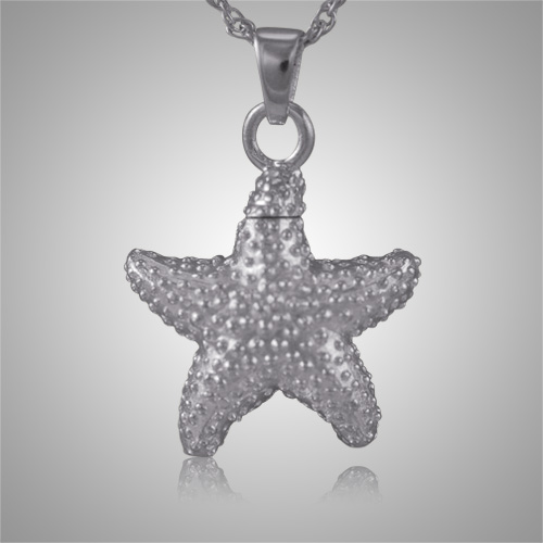 Star fish cremation jewelry for Fish cremation jewelry