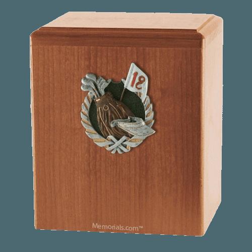 18th Hole Light Cherry Cremation Urn