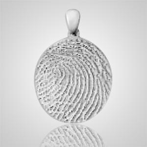 Large Finger Sterling Silver Print Keepsakes