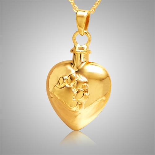 Paw Heart Pet Cremation Jewelry IV