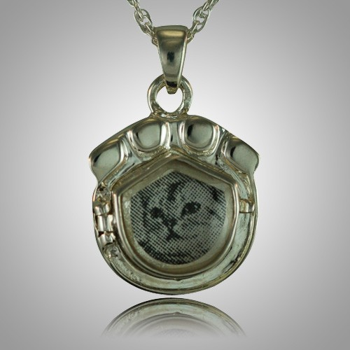 Cat Paw Locket Cremation Keepsake