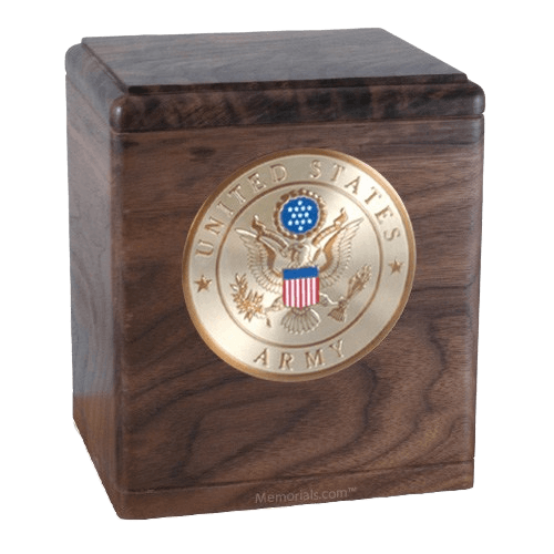 Freedom Walnut Army Urn