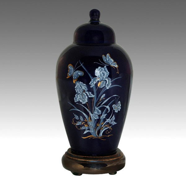 Iris Blue Pet Cremation Urns