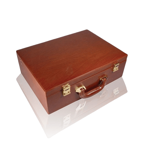 Fall Creek Leather Case Cremation Urn