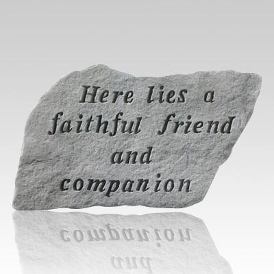 Here Lies A Faithful Friend Memorial Stone