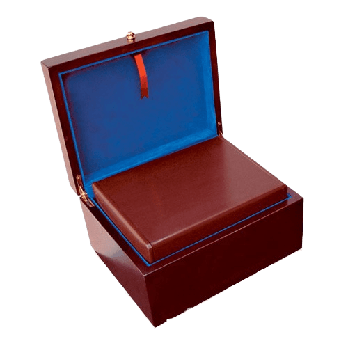 Antique Photo Chest Wood Cremation Urn