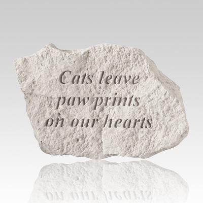 Cat Paw Prints Memorial Stone