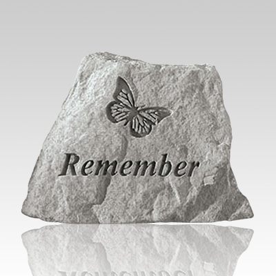 Remember with Butterfly Memorial Stone