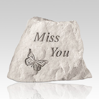 Miss You with Butterfly Memorial Stone