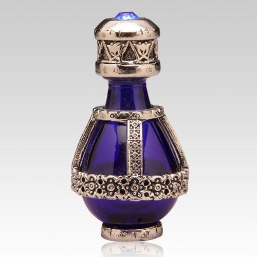 Silver Banded Roma Tear Bottle