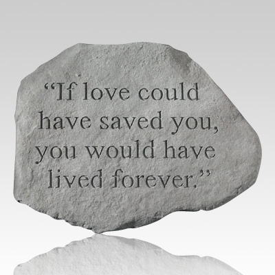 Love You Forever Memorial Stone