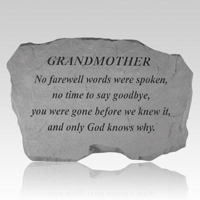 Grandmother No Farewell Words Stone