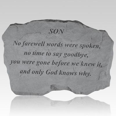 Son No Farewell Words Stone