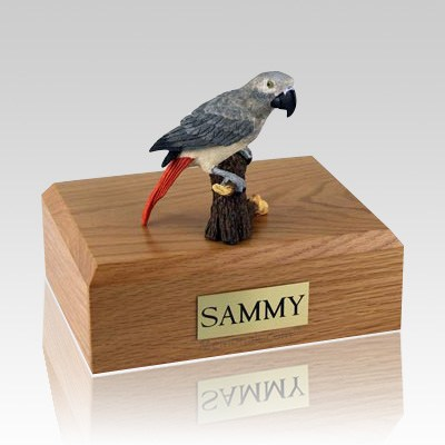 African Gray Parrot Bird Cremation Urns