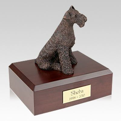 Airedale Bronze Dog Urns
