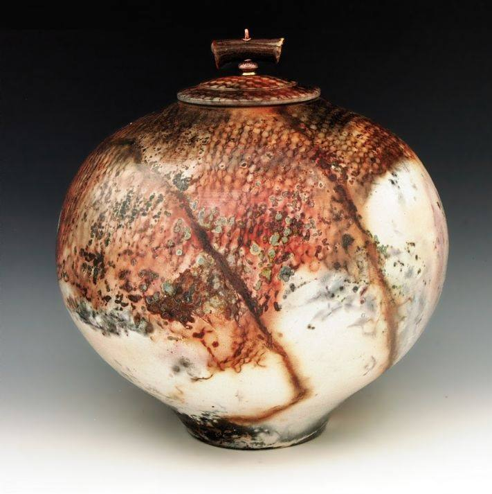 Alasila Raku Cremation Urn For Two