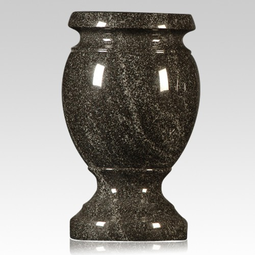 American Black Granite Vase