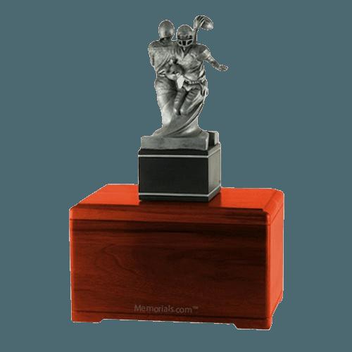 American Football Cherry Cremation Urn