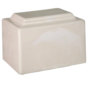 Amity Cream Marble Cremation Urn