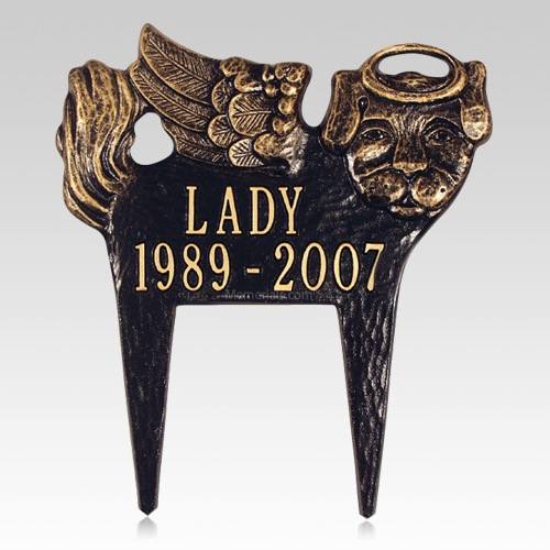 Angel Dog Pet Memorial Plaque