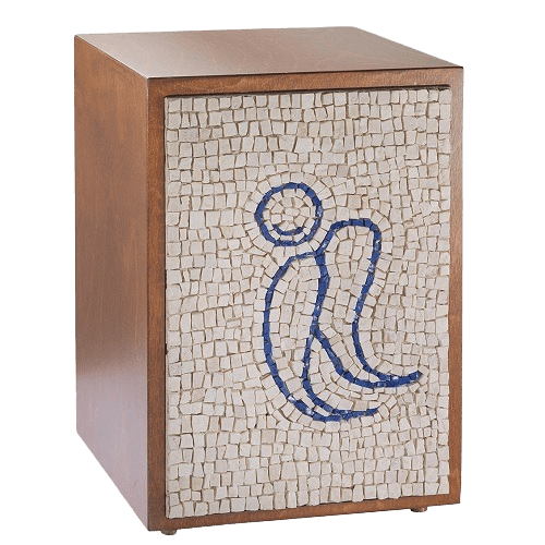Angel Mosaic Cremation Urn