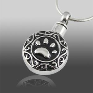 Antique Paw Cat Cremation Pendant