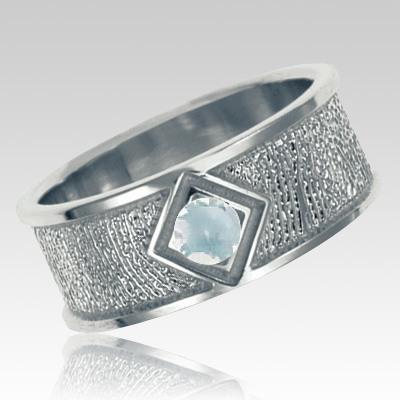 April Birthstone 14k White Gold Ring Print Keepsakes