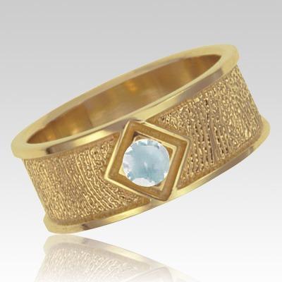 April Birthstone 14k Yellow Gold Ring Print Keepsake