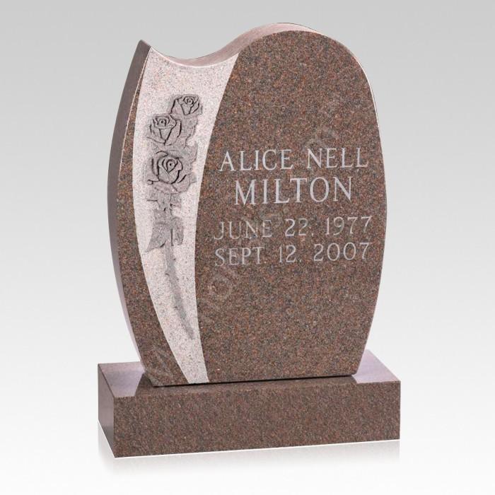 Ardor Upright Cemetery Headstone
