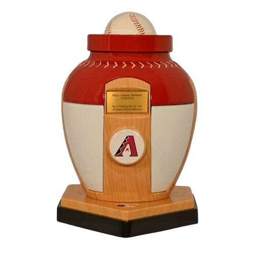Arizona Diamondbacks Baseball Cremation Urn