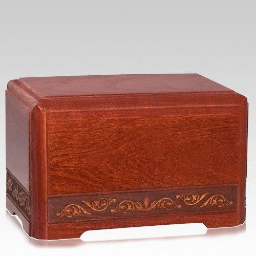 August Wood Pet Cremation Urn
